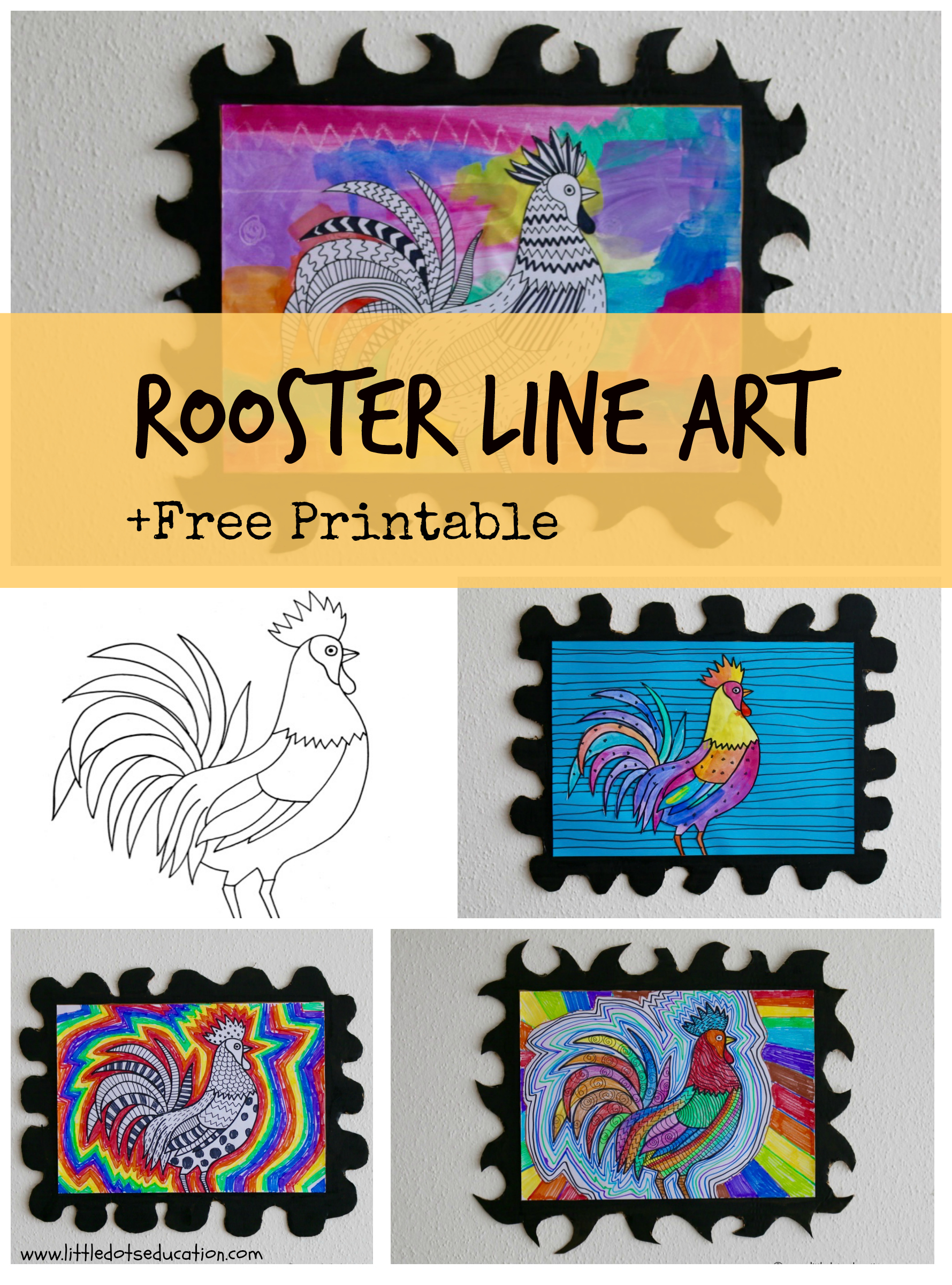 Chinese New Year Rooster Art Activities Free Printable