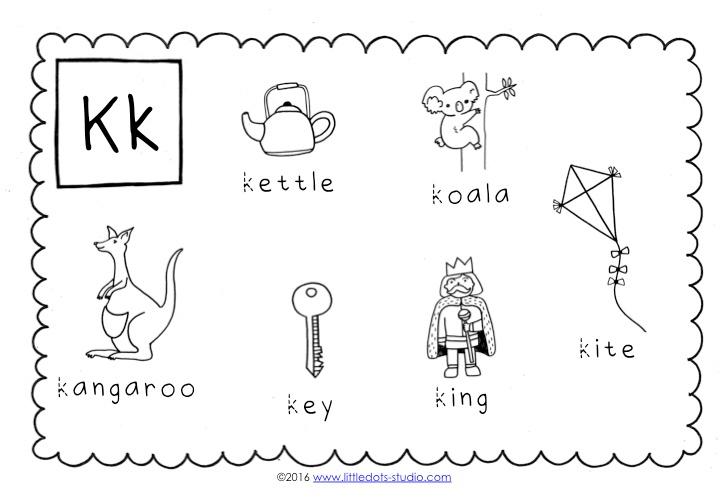 Preschool Letter K Activities and Worksheets