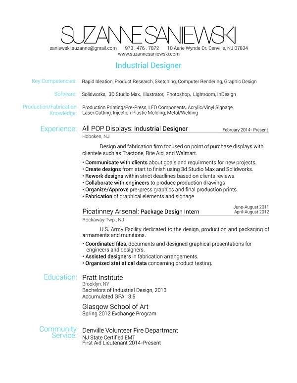 Resume CV Cover Letter Resume Nicole Bach Industrial Design