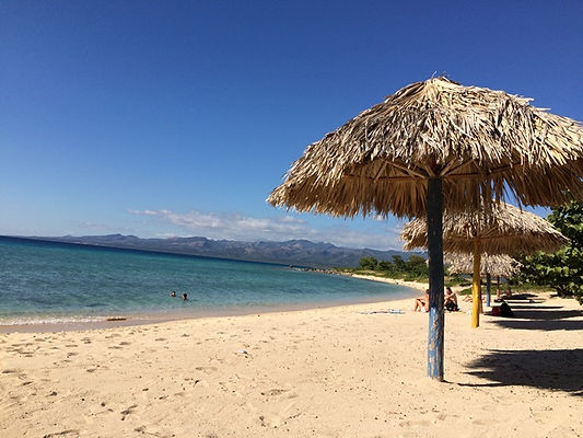 Trinidad beach, Cuba, Blue Sky and Wine