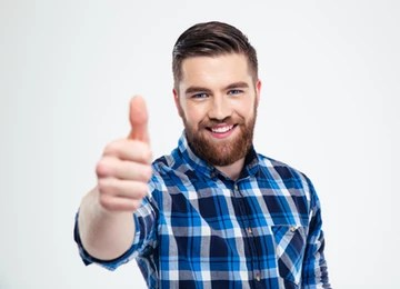 man doing a thumbs up