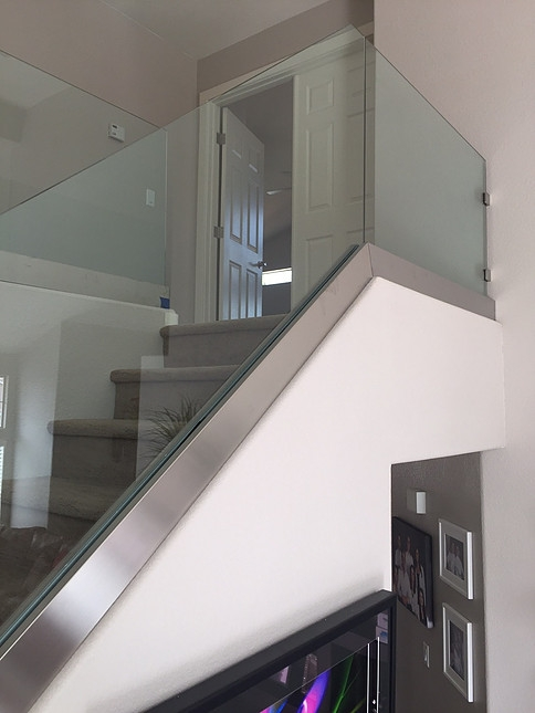 Glass Railing Stair Railways Hearth Home Specialties Las Vegas   Glass Banister Near Me   Floating Staircase   Interior Railings   Interior Stairs   Spiral Staircase   Frameless Glass