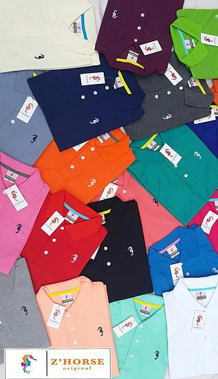 ร้านขายส่ง เสื้อโปโล zhorse (ม้าน้ำ) ขายส่ง ราคาถูก สินค้าขายดี ได้รับความนิยม ในตลาด แบบเสื้อ โปโล เสื้อคอปก เสื้อยืด สินค้าส่งออกโรงงาน คุณภาพดี ผลิตในไทย รับตัวแทน จำหน่าย ทั่วประเทศ