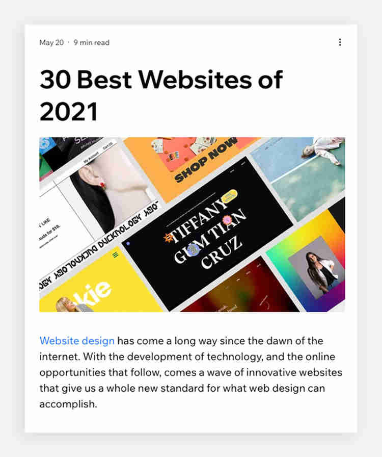 product showcase blog format