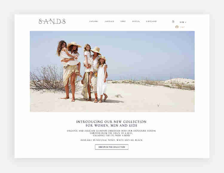 Greek Sandals's website