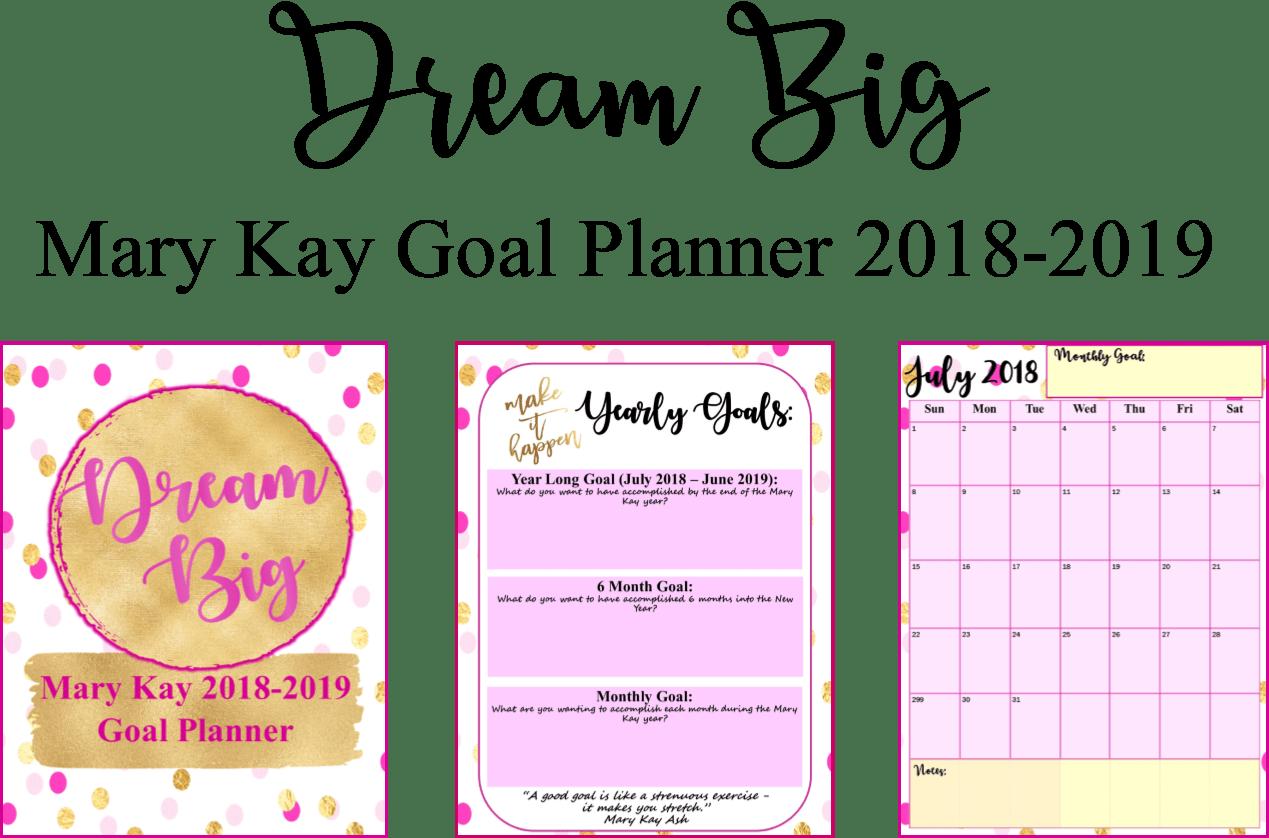 Freebie Editable Mary Kay Dream Big Planner For