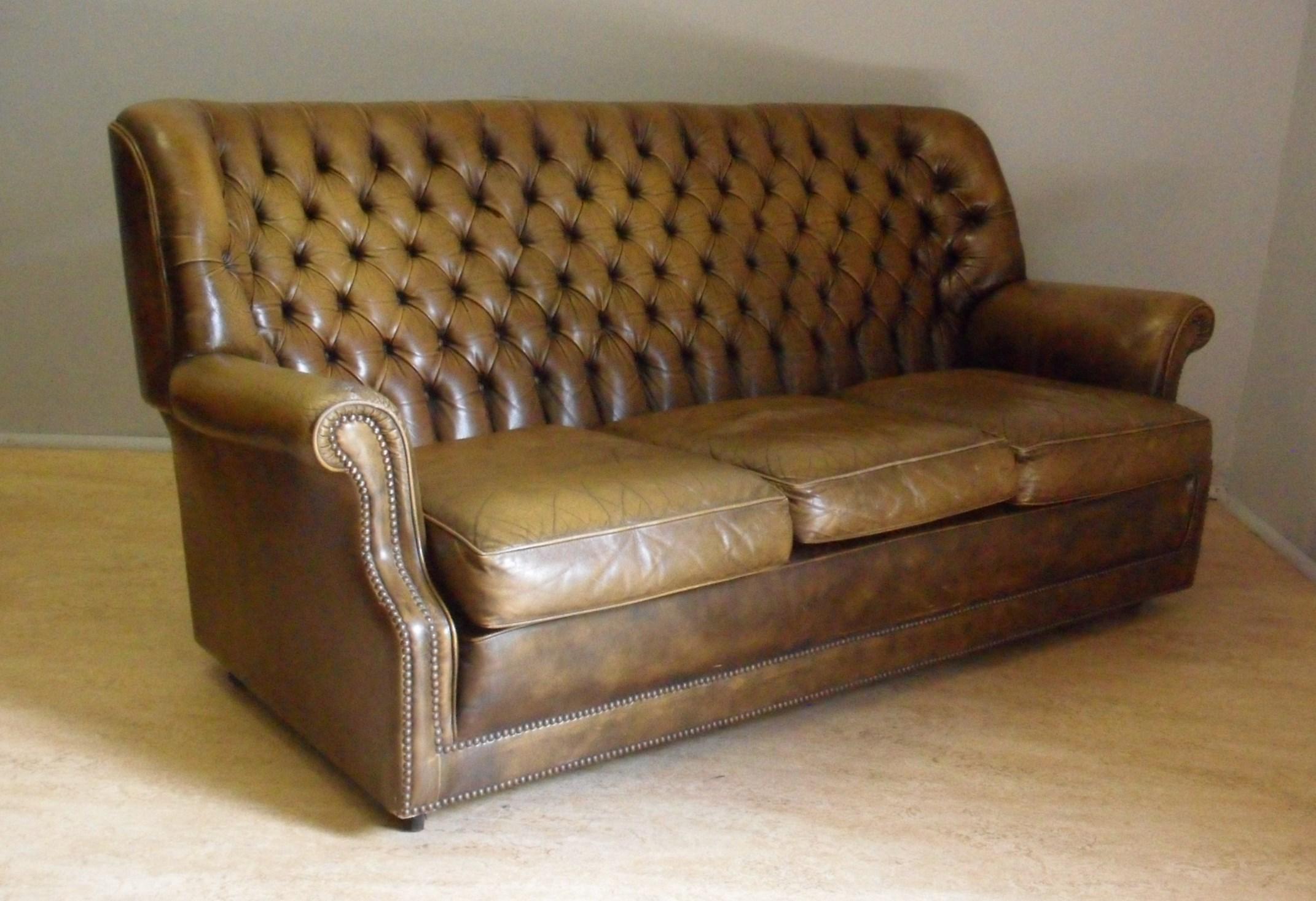 leather chesterfield sofa beige 2 seater bed dimensions pegasus tan mygreendaddy