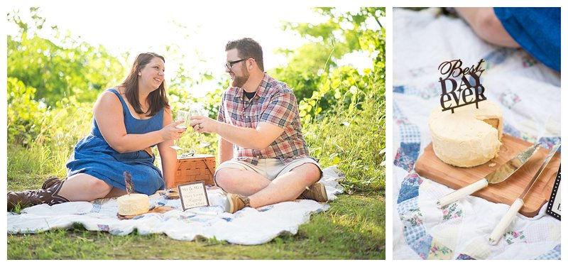 Couple Portraits Picnic Shoot at Sleepy Hole Park in Suffolk Virginia Hampton Roads Portrait Photographer