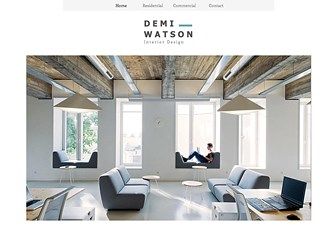 Interior Design Portfolio Website Template WIX