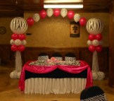 Pink Zebra Baby Shower Balloon Arch