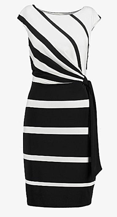 Tubino_Black and white dress_Ralph Lauren
