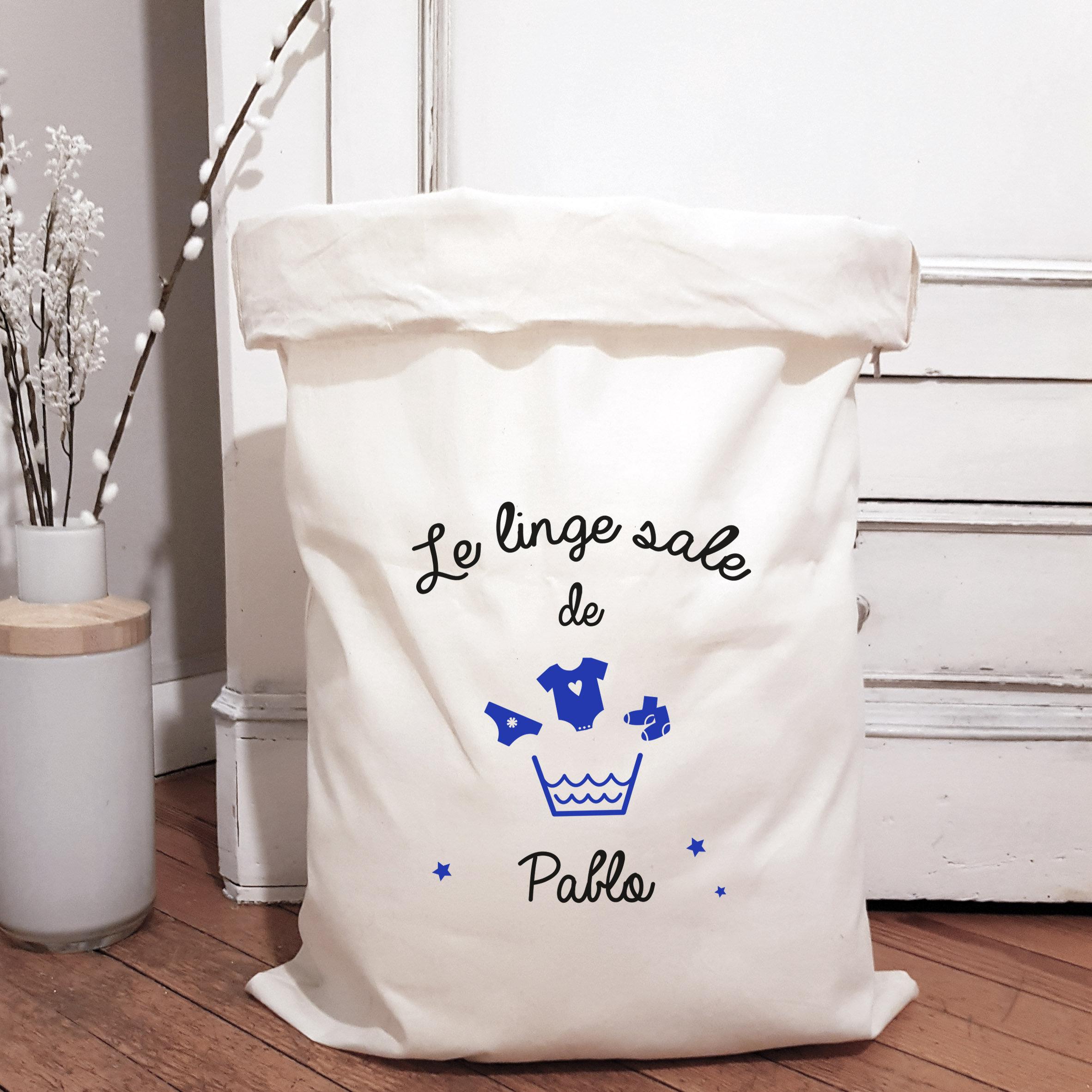 Grand Sac De Rangement En Coton Le Linge Sale Luz Et Nina