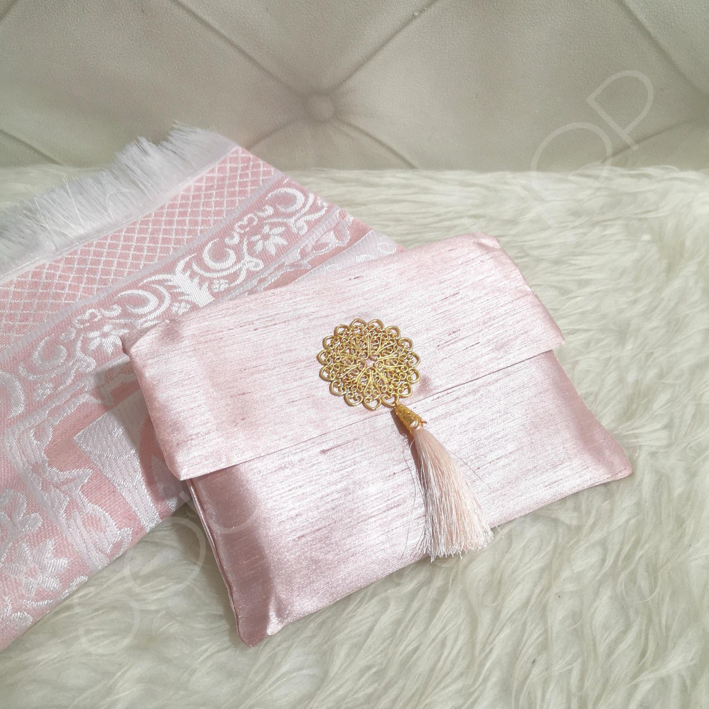 tapis de priere de voyage rose pale sounna shop