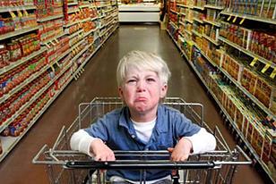 temper tantrum at grocery store