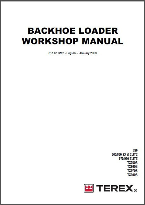 terex , terex Workshop Service Manuals