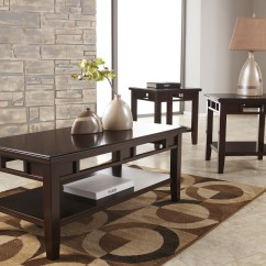 3 Piece Living Room Table Set Curtains And Blinds Furnitureclub2 Coffee Tables Ashley Pc