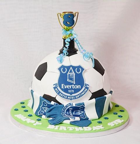 Everton Football Birthday Cake