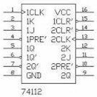 Circuito Integrado 74LS112, 74112. Flip-Flop JK