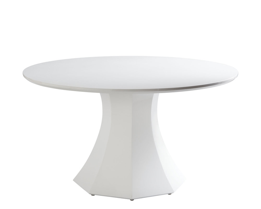 table ronde 55 laque blanche macuisinemondecor