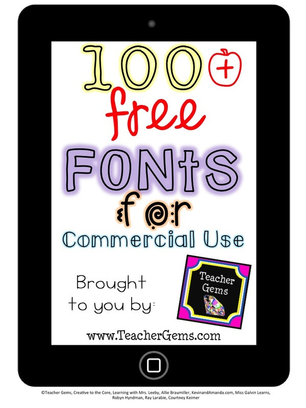Download 100+ Free Fonts for Commercial Use!