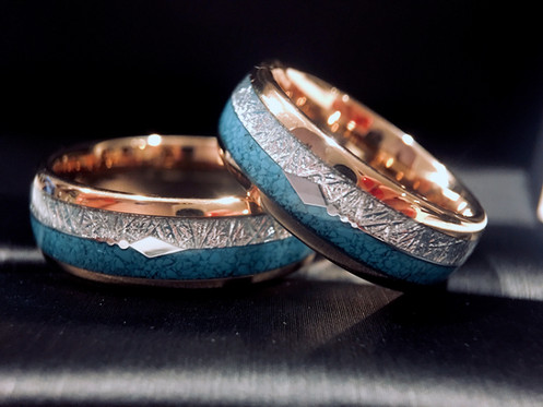 Turquoise Inlay Engagement Ring