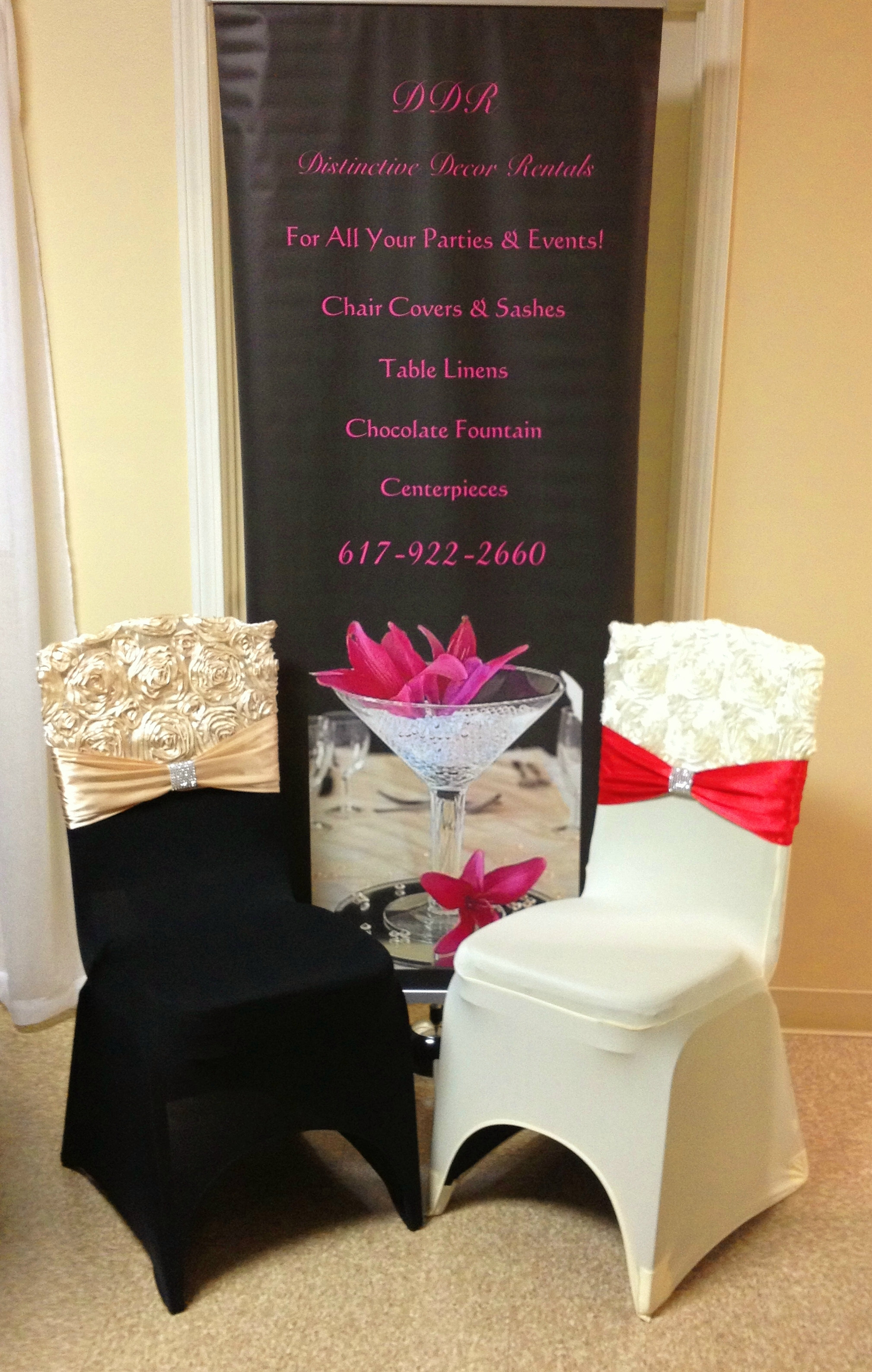 chair covers and sashes for rent purple kids distinctive decor rentals couture linens rosette