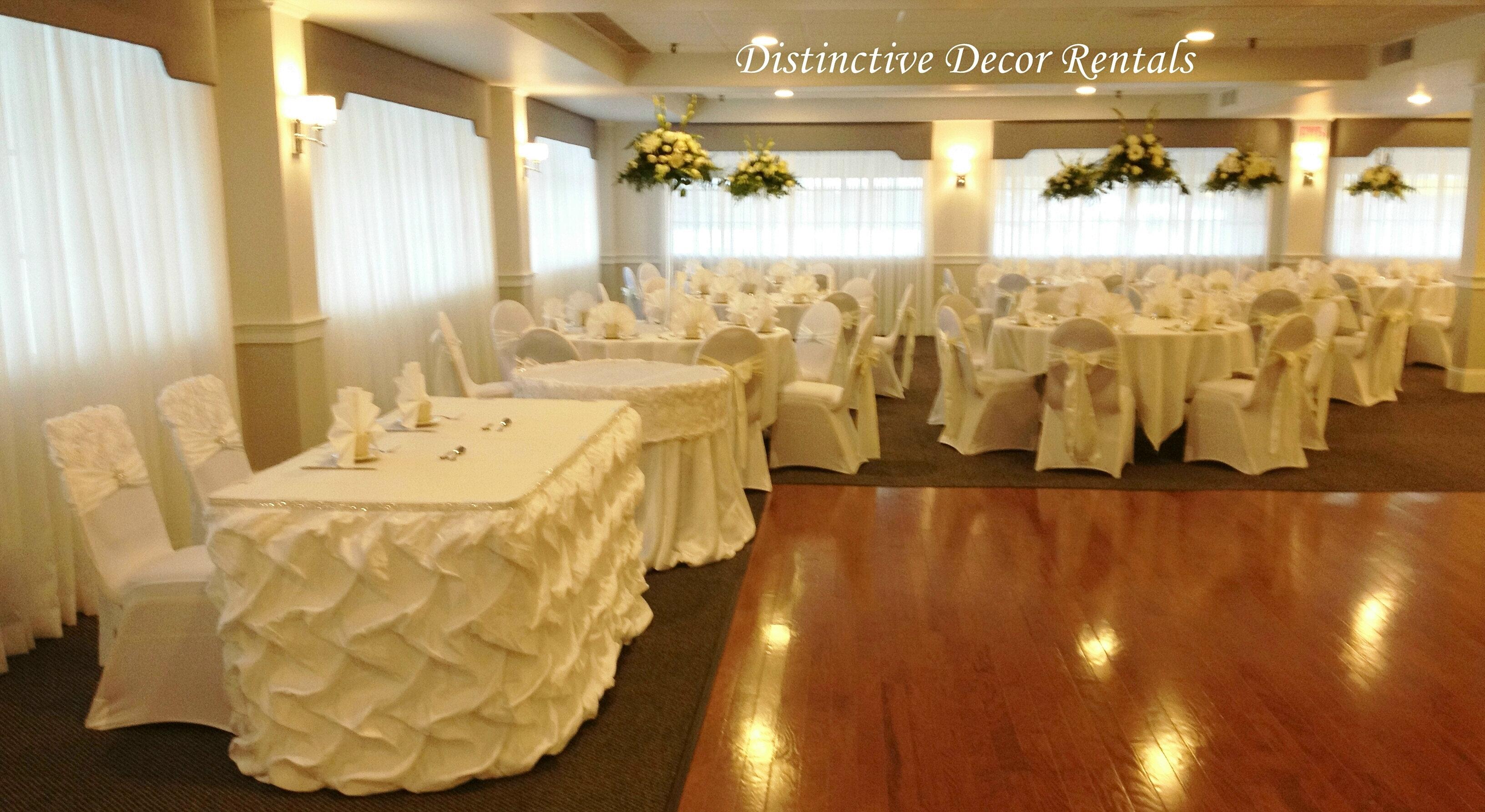 chair cover rentals boston ma desk rollers distinctive decor white couture