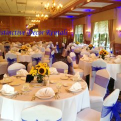 Chair Covers Rental Near Me Diy For Metal Folding Chairs Distinctive Decor Rentals Royal Blue Organza