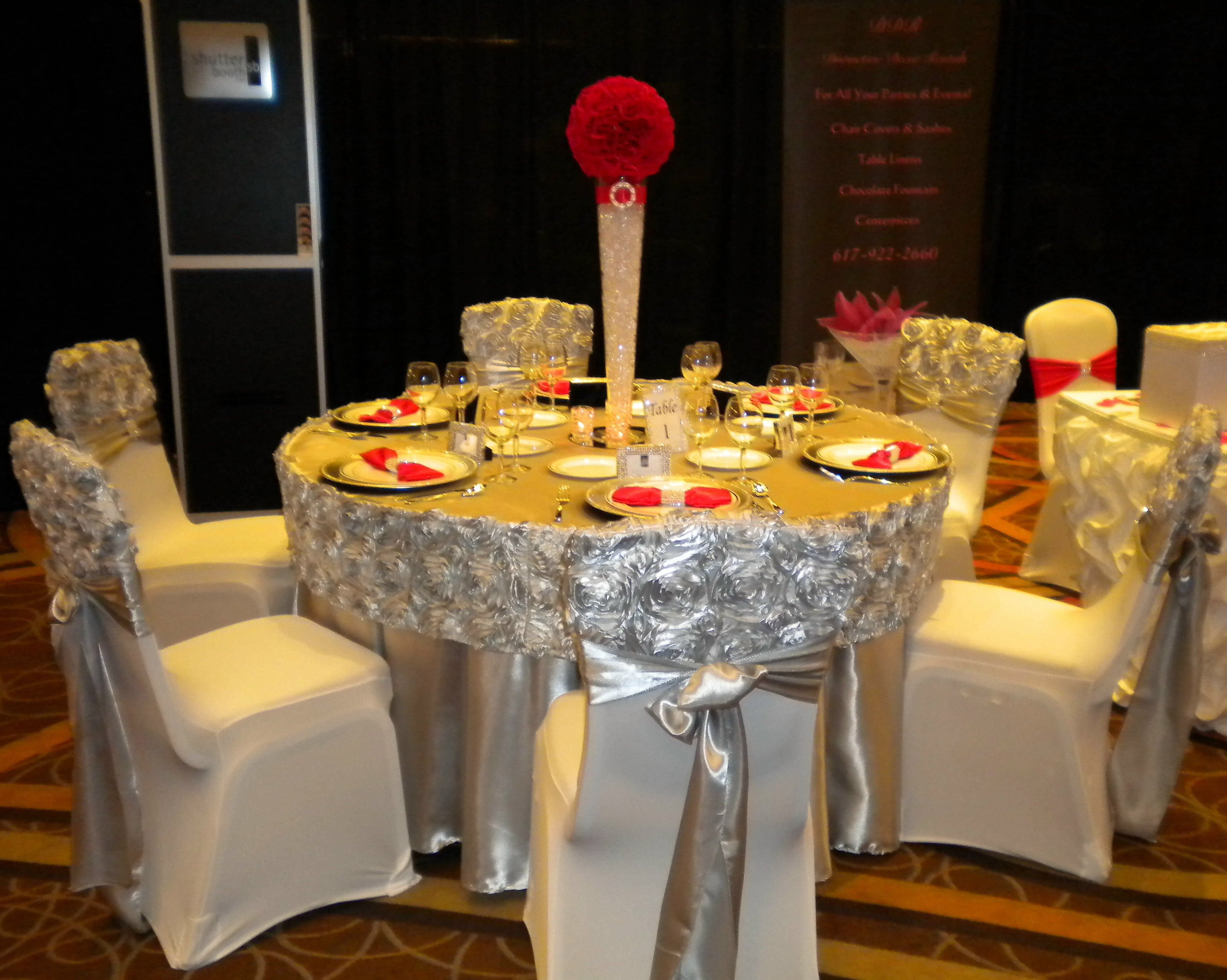 chair cover rentals dc decoupage chairs for sale distinctive decor rosette caps and valance