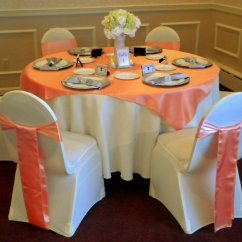 Chair Cover Rentals Boston Ma Hoveround Accessories Distinctive Decor Couture Linens Peach And Ivory