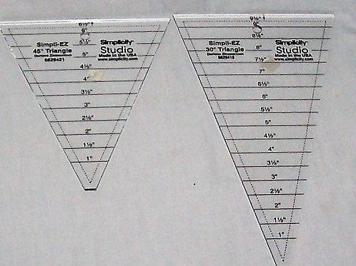 Simplicity Studio Simpli-EZ 30 and 45 Degree Triangles
