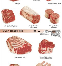 beef rib cuts pork rib cut diagram pork loin diagram [ 596 x 2212 Pixel ]