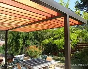 Steel And Wood Pergola Detail
