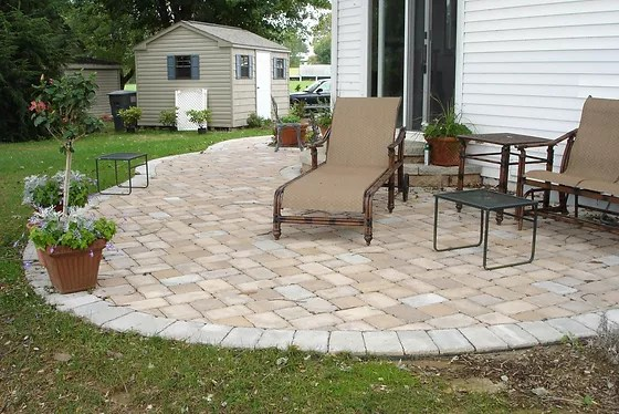 extend your concrete patio with pavers