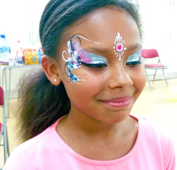 Girls Pretty Face Painting Florals