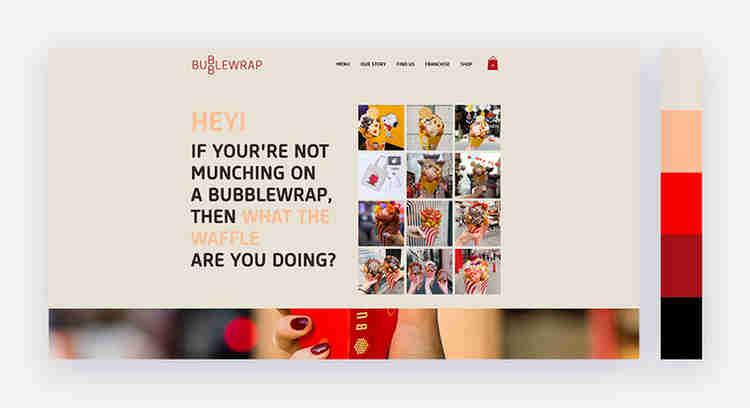 appetizing website color scheme bubble wrap