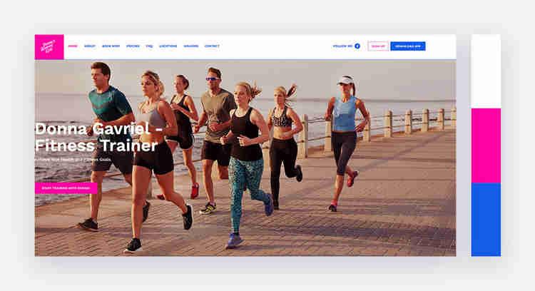 youthful website color scheme