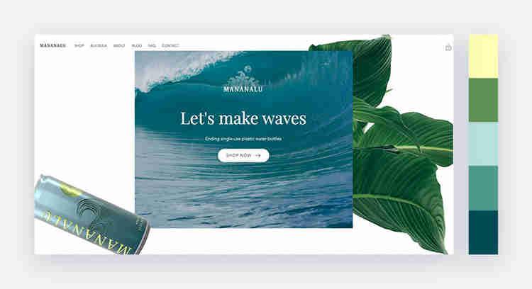 seaside inspired website color scheme by Manalulu