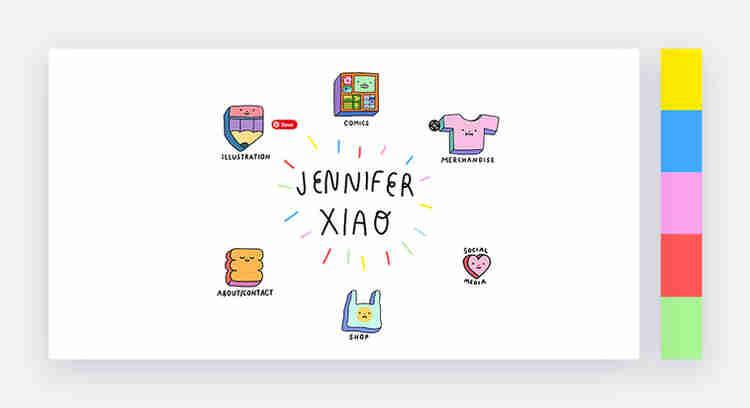 website color scheme by jennifer xiao