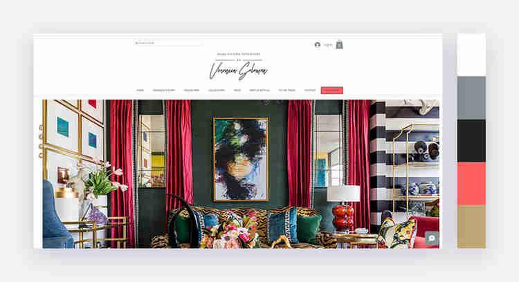 Chic website color scheme by Veronica Solomon