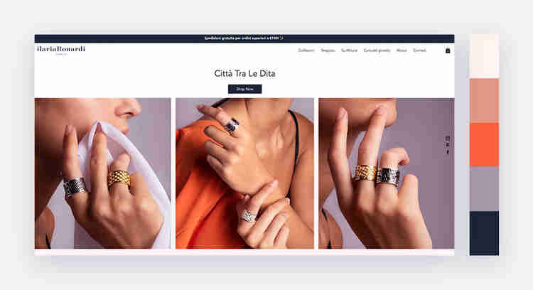 warm with cool shades website color scheme