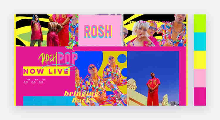 bright website color scheme by Roshini Kumar