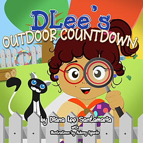 Childrens book, teach counting, lesson plans, DLee's World, DLee, by Diana Santamaria