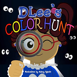 Childrens book, buy now, learn colors, teach, DLee's World, DLee, by Diana Santamaria