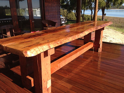 Timber Slab Outdoor Table