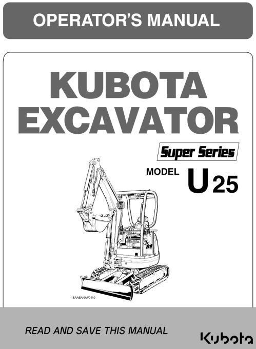 small resolution of kubota u25 super series operator s manual garton tractor california kubota new holland tractors equipment
