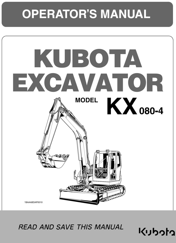 medium resolution of kubota kx080 4 operators manual garton tractor california kubota new holland tractors equipment