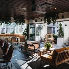 The Living Room With Sky Bar Doors Attico Rooftop Restaurant Philadelphia Dining