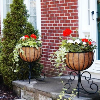 Wrought Iron Planters, Large Wall Planters, Decorative ...