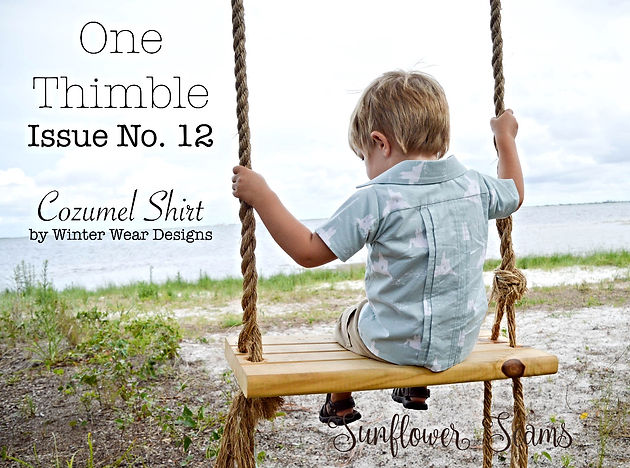 Sunflower Seams | One Thimble EZine, Digital Seing Magazine, PDF Sewing Pattern, Winter Wear Designs, Cozumel Shirt, Pleats, Collared Shirt, Boys, Boy, Summer, Spring, Winter, Fall, Back to School, Cozumel, Button up Shirt,